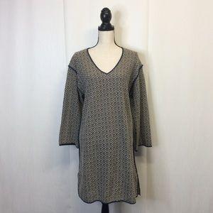 Cotelac Tunic Sweater Dress Gray Black Large 3